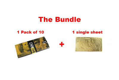 Empire BENNY™ $100 Bills + Tips (1 Pk) + 1 Shine® 24K Gold 1 1/4 (Single Sheet)