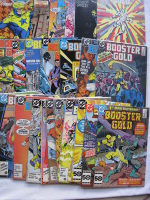 BOOSTER GOLD : COMPLETE  25 ISSUE, 1986 DC SERIES by JURGENS, DeCARLO etc. FN-NM