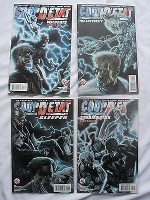 COUP D'ETAT : COMPLETE 4 ISSUE SERIES.WILDCATS,STORMWATCH,The AUTHORITY. JIM LEE