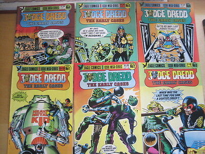 JUDGE DREDD : The EARLY CASES -complete 6 issue EAGLE COLOUR SERIES.WAGNER,MILLS