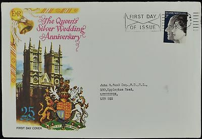 GB FDC 1972 Royal Silver Wedding, Paddington W2 FDI Slogan #C51530