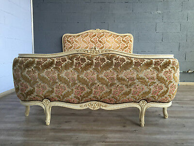 41218 ANTIQUE FRENCH Louis Upholstered corbeille BED