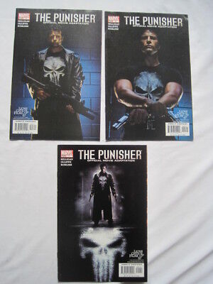The PUNISHER : Official MOVIE Adaptation : COMPLETE 3 ISSUE 2004 MARVEL SERIES