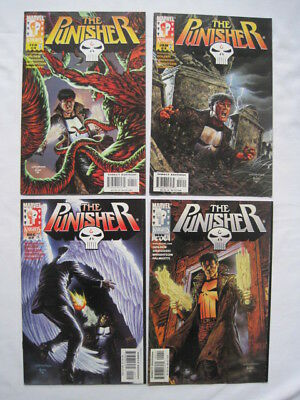 The PUNISHER :COMPLETE 4 ISSUE SERIES by GOLDEN,WRIGHTSON et.MARVEL KNIGHTS.1999