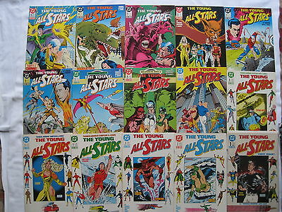The YOUNG ALL STARS : COMPLETE 31 ISSUE 1987 DC SERIES + ANNUAL 1. EXC CONDITION
