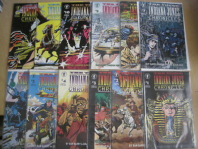 The YOUNG INDIANA JONES CHRONICLES : COMPLETE 12 ISSUE 1992 DARK HORSE SERIES