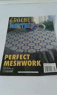 Vintage Crochet Monthly Magazine - Number 155 - Perfect Meshwork Designs - Vgc