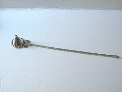RARE Hector Aguilar Taxco Sterling Silver Candle Snuffer..Jeweled Top