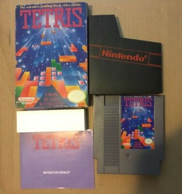 Tetris (Nintendo Entertainment System, 1989) NES CIB Complete Box Manual Great