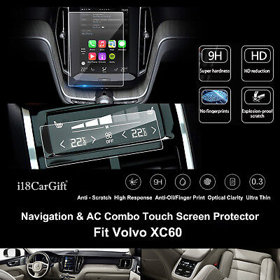 2019-2020 Volvo XC60 Tempered Glass Navigation & AC Touch Screens Protector