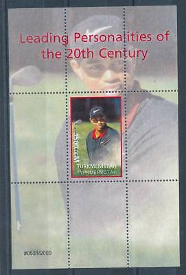 181717) Turkmenistan ** Blockausgabe Golf Tiger Woods