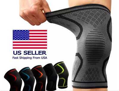 2X Knee Brace Support Compression Sleeve For Joint Pain Arthritis Relief OR 1X