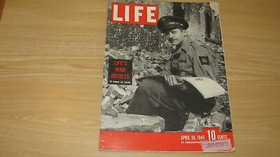 1945  Life Magazine  April 30  Life War Artists High Grade Lowest Price On  Ebay
