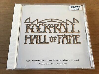 Rock And Roll Hall of Fame 2008 23rd Annual Induction Dinner PROMO cd Madonna