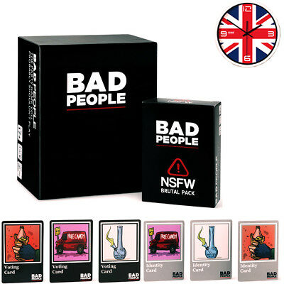 Bad People Card Game Basic+NSFW Brutal Pack Party Family Games UK Free P&P HOT!!