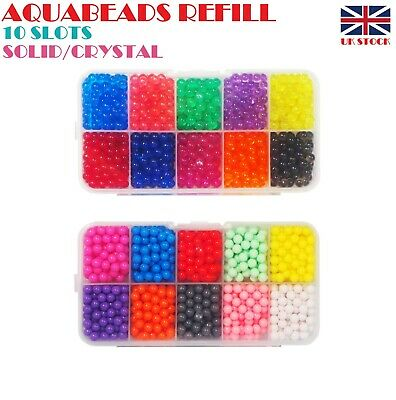 Aquabeads Refill Pack 1000+ Beads in 10 HOT Colors Separate Packing BIG SALE
