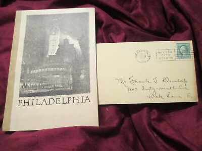 Philadelphia ILLUSTRATED Past Achievements Present 1924 BOOK STUDEBAKER POSTCARD