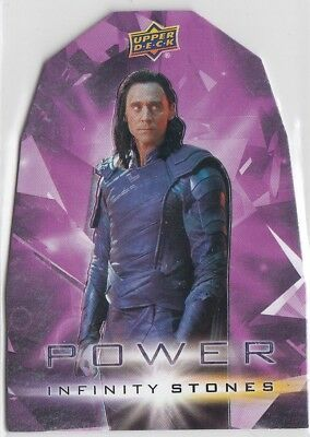 2018 Upper Deck Marvel Avengers Infinity War POWER Stone PP1 Loki