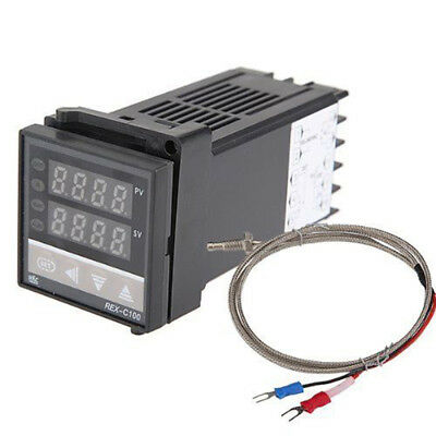 250V Dual PID Digital Temperature Controller REX-C100 With K Type Thermocouple