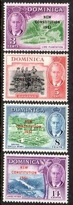 1951 DOMINICA NEW CONSTITUTION SG135-138 mint unhinged