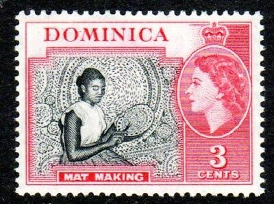 1954-62 DOMINICA 3c mat making SG144 mint unhinged