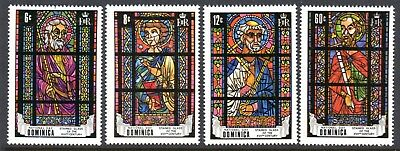 1969 DOMINICA NATIONAL DAY STAINED GLASS WINDOWS SG268-271 mint unhinged