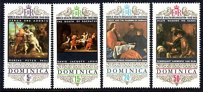 1969 DOMINICA 20th ANNIVERSARY WHO PAINTINGS SG246-249 mint unhinged