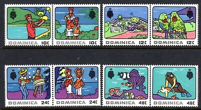 1969 DOMINICA TOURISM pairs SG250-257 mint unhinged