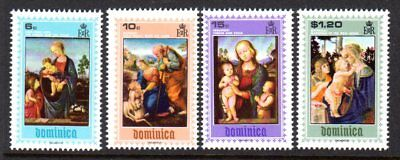 1969 DOMINICA CHRISTMAS PAINTINGS SG291-294 mint unhinged