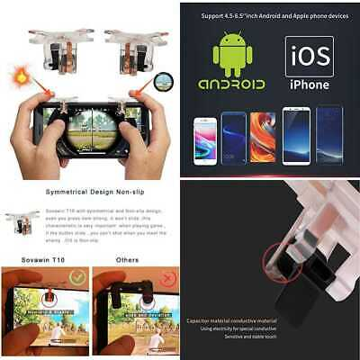 Mobile Game Controller Mulan 2 Pair PUGB Physical Support Triggers Sensitive Sho