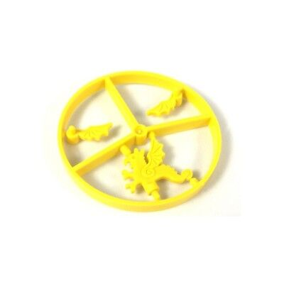 LEGO - Minifig, Headgear Accessory - Plume Wheel Complete, Dragon - Yellow