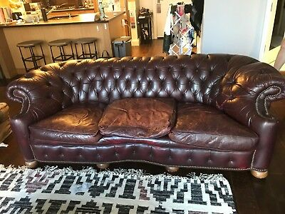 Genuine Chesterfield Sofa Old Hickory Tannery 421 00 Picclick