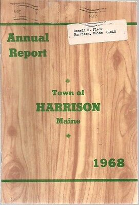 1968 ANNUAL REPORT of the Town of Harrison, Maine