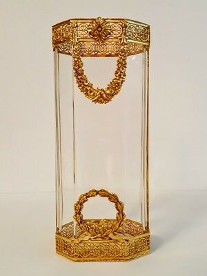 Classical Bronze Ormolu Mounted French Empire Baccarat Crystal Vase
