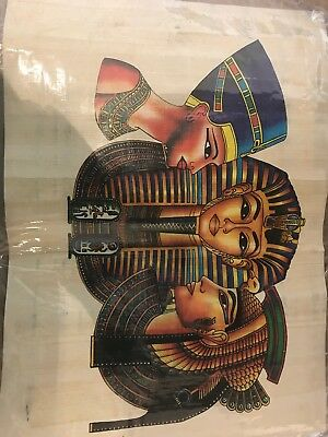 Handmade Painted Ancient Egyptian Papyrus .. Good Looking Papyrus!!