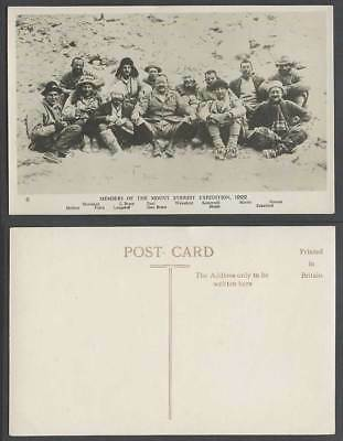 TIBET China, MEMBERS of MOUNT EVEREST EXPEDITION 1922 Original Old R.P. Postcard