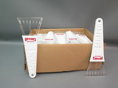 50 Pc Lot  Browns Automotive Group Plastic Windshield Ice Scrapers White  - NEW