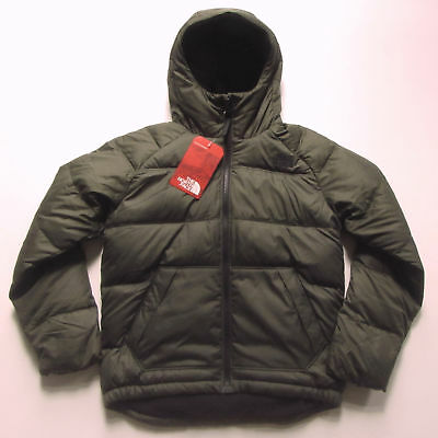 440f8ad27 NEW NORTH FACE Boys Moondoggy 2 Down Hoodie Jacket Winter Coat M Med 10 12  Green
