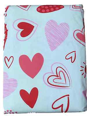 Decor Valentines Day Vinyl Tablecloth With Red Pink Hearts 70