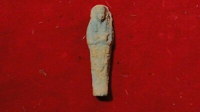 Great Egyptian Artifact-Recovered Painted Clay Figure