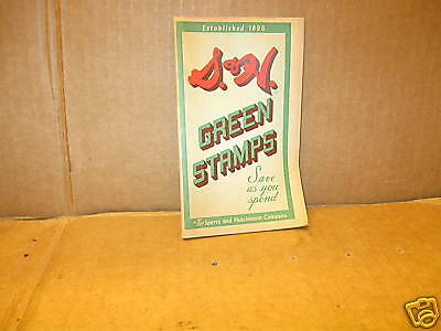Vintage S & H Green Stamps Book 1956 (55 yr old Version
