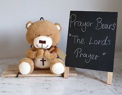Teddy bears Lords Prayer bear our father praying bear christening gift baby