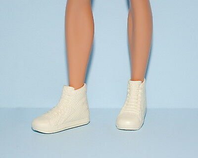 Ivory Cream Beige KEN High Top Tennis Athletic Sporty Shoes, Faux Lace Up BARBIE