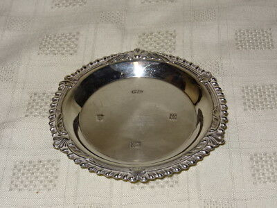Attractive Vintage Hallmarked Sterling Silver Pin Dish - Broadway & Co - 1972