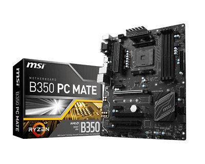 MSI B350 Pc Mate Scheda Madre AMD Ryzen Am4 ATX Realtek Gigabit Lan Ddr4