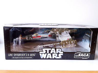 Star Wars TSC Luke Skywalker´s X-Wing Fighter Dagobah + Sumpfmonster NEU