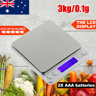 3kg/0.1g Kitchen Scale Digital LCD Electronic Balance Weight Postal Food Scales
