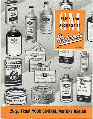May 1945 General Motors Highspots Brochure - Cleaning Products