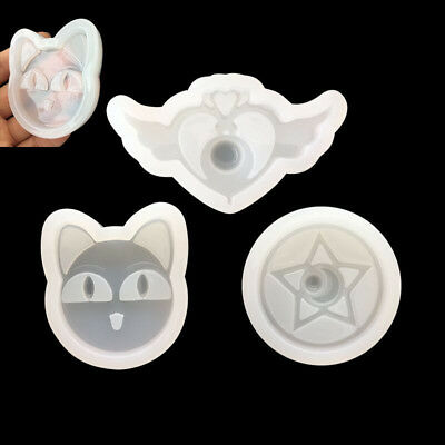 3pcs Sailor Moon 3D Silicone Candy Cookie Cake Mold Soap Mould Baking Tools Set