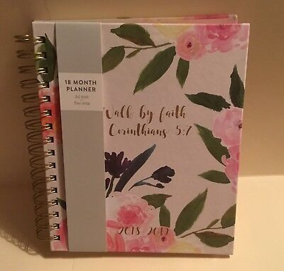2019 Eccolo Weekly Monthly Agenda Christian Planner Calendar - Walk by Faith